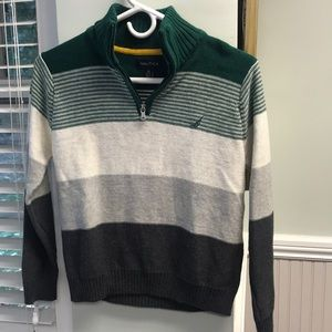 Boys Nautical Quarter Zip Sweater